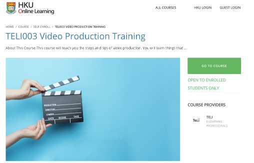 TELI003 Video Production Training