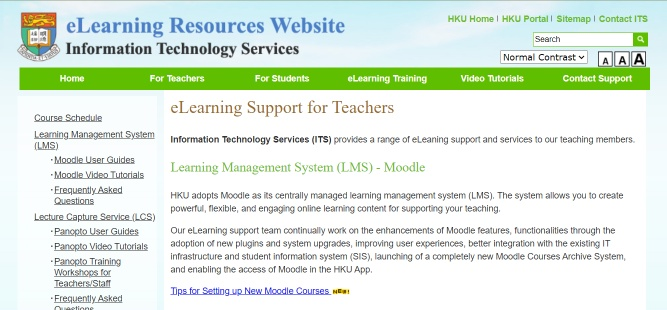 eLearning Support for Teachers