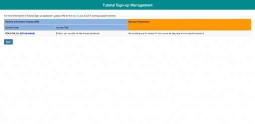 Tutorial Sign-up Management