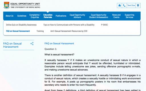 FAQ on Sexual Harassment