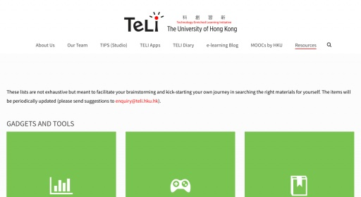 e-Learning Resources @ TELI