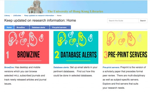 Keep updated on research information