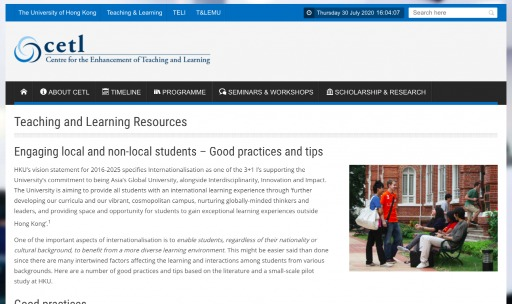 Engaging local and non-local students – Good practices and tips