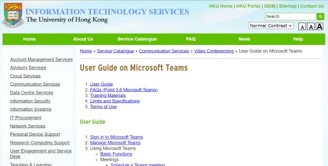 User Guide on Microsoft Teams