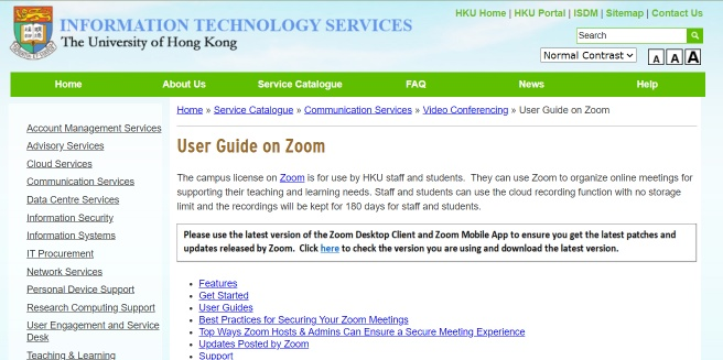 User Guide on Zoom