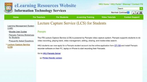Panopto for teachers (user info)