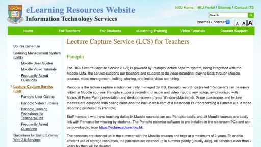Panopto for students (user info)
