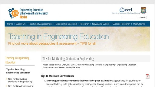 Tips for Teaching Engineering Education